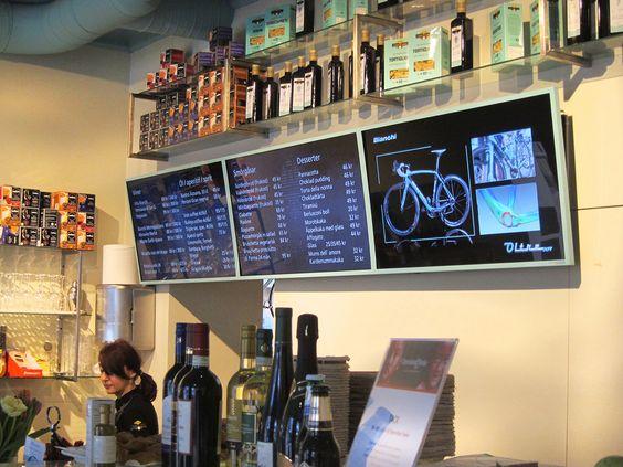 Meniu digital cafenea